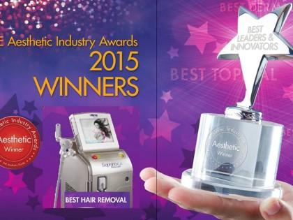 We won THE Aesthetic Industry Awards for BEST HAIR REMOVAL- SOPRANO ICE!!!